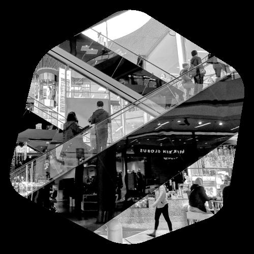 cube escalator grande distribution