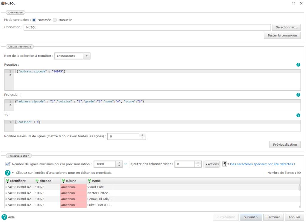 connecteur NoSQL